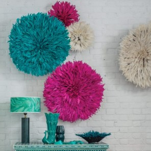 Zandi feather wall decorations from Graham & Green