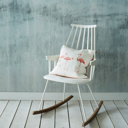 Graham & Green Three Flamingoes cushion