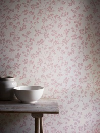 Imperial wallcovering in Kew Nordic Pink, £39.50 per metre from Ian Mankin