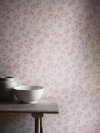 Imperial wallcovering in Kew Nordic Pink, £39.50 per metre from Ian Mankin
