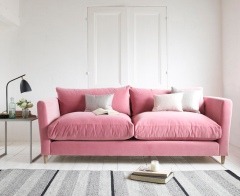 Flopster sofa in Dusty Rose clever velvet, £1,195.00 from Loaf