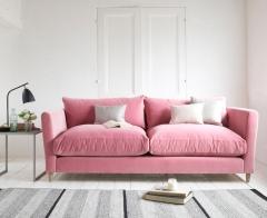 Flopster sofa in Dusty Rose clever velvet, £1,195.00 from Loaf