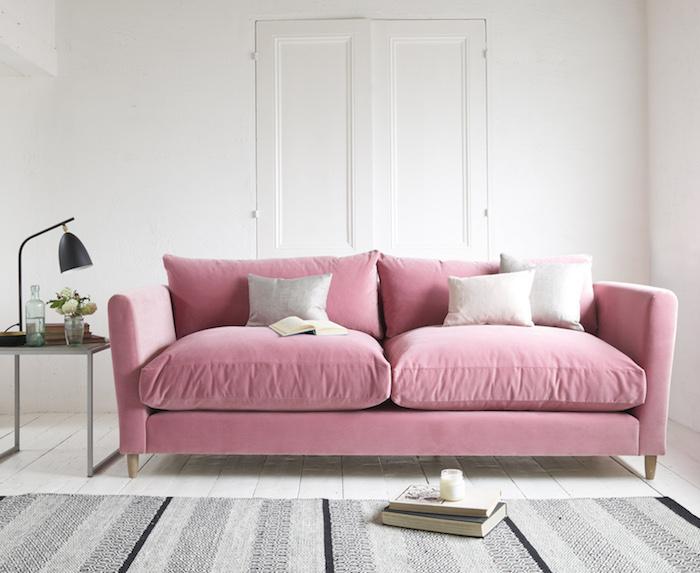 flopster sofa in dusty rose clever velvet 1 from. Black Bedroom Furniture Sets. Home Design Ideas