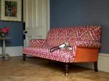 Midhurst sofa in Manuel Canovas Boheme Rose and Orange ikat, £1,184.00 from Sofas & Stuff