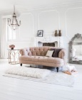 Chablis & Roses pink velvet sofa, £1,120.00 from The French Bedroom Company