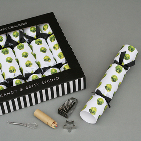 Annabel James brussels sprouts luxury crackers