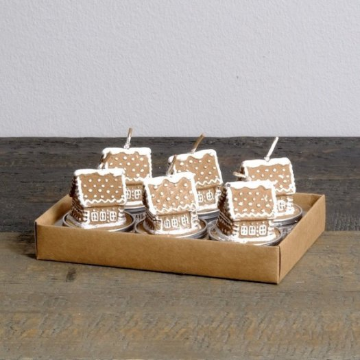 Catesby's Gingerbread House Votive Candles - set of 6
